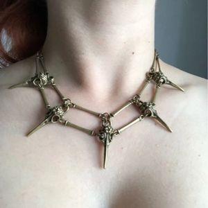 Bird Beak Skeleton Choker Necklace